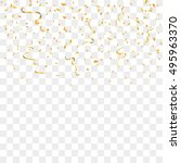gold confetti celebration... | Shutterstock .eps vector #495963370