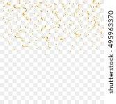 gold confetti celebration... | Shutterstock .eps vector #495963370