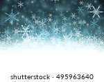 winter background with... | Shutterstock .eps vector #495963640