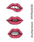 hand drawn vector illustrations ... | Shutterstock .eps vector #495964030