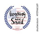 honoring all who served... | Shutterstock .eps vector #495966169