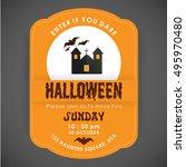 enter if you dare. halloween...   Shutterstock .eps vector #495970480