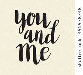 conceptual hand drawn phrase... | Shutterstock .eps vector #495978748
