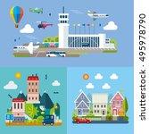 modern flat design conceptual... | Shutterstock .eps vector #495978790