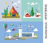 modern flat design conceptual... | Shutterstock .eps vector #495978940