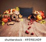 autumn arrangement with apples  ...