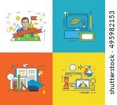 concept of graphic design ... | Shutterstock .eps vector #495982153