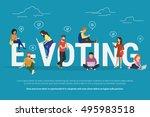 e voting concept illustration... | Shutterstock . vector #495983518