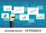 flat business analytics graph... | Shutterstock .eps vector #495988804