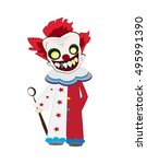 Clown Cartoon Vector For...