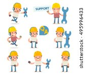 50  poses of characters with... | Shutterstock .eps vector #495996433