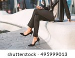 detail of businesswoman... | Shutterstock . vector #495999013