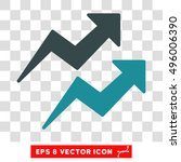 vector trends eps vector icon.... | Shutterstock .eps vector #496006390