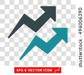 vector trends eps vector icon.... | Shutterstock .eps vector #496006390