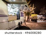 vintage food truck  late... | Shutterstock . vector #496008280