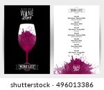 design template list  wine... | Shutterstock .eps vector #496013386