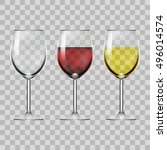transparent glass full of red... | Shutterstock .eps vector #496014574