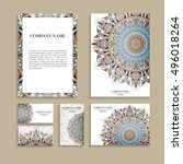 set of business cards. template ...   Shutterstock .eps vector #496018264