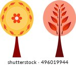 isolated trees. tree... | Shutterstock .eps vector #496019944