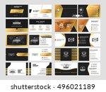 set of elegant double sided... | Shutterstock .eps vector #496021189
