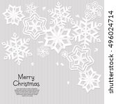 abstract christmas card with... | Shutterstock .eps vector #496024714