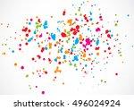 abstract color splash... | Shutterstock .eps vector #496024924