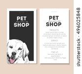 vector set of pet shop flyers....   Shutterstock .eps vector #496025848