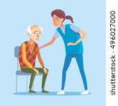 flat design concept of health... | Shutterstock .eps vector #496027000