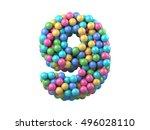 color plastic balls on children'... | Shutterstock . vector #496028110
