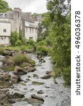 idyllic scenery at pont aven  a ... | Shutterstock . vector #496036378