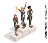 businesspeople win career...   Shutterstock .eps vector #496038094