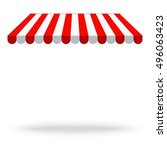 awning canopy for shops  cafes... | Shutterstock .eps vector #496063423