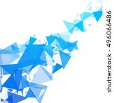 blue break mosaic background ... | Shutterstock .eps vector #496066486