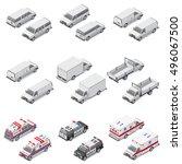 minivan passenger  cargo  board ... | Shutterstock .eps vector #496067500