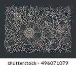 poppy flowers  floral pattern...   Shutterstock .eps vector #496071079