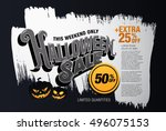 halloween sale. vector... | Shutterstock .eps vector #496075153