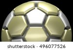 soccer ball. 3d illustration.... | Shutterstock . vector #496077526