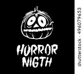 halloween party design template ...   Shutterstock .eps vector #496079653