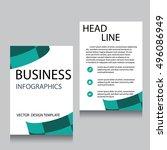 vector brochure flyer design...   Shutterstock .eps vector #496086949