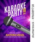 karaoke party invitation poster ...   Shutterstock .eps vector #496089718