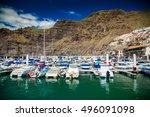 view of los gigantes marina...   Shutterstock . vector #496091098