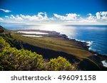 beautiful northern coast of...   Shutterstock . vector #496091158