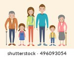 vector set of characters in a... | Shutterstock .eps vector #496093054
