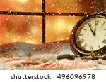 new year time and winter window  | Shutterstock . vector #496096978