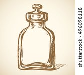 kitchen glass old jug beaker... | Shutterstock .eps vector #496098118