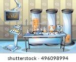 cartoon vector illustration... | Shutterstock .eps vector #496098994