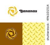 bananas logo design template.... | Shutterstock .eps vector #496101514