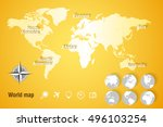 world map | Shutterstock .eps vector #496103254