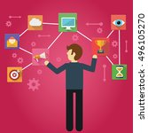 customer relationship... | Shutterstock .eps vector #496105270