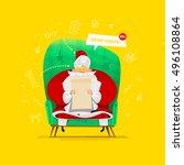santa claus vector illustration.... | Shutterstock .eps vector #496108864